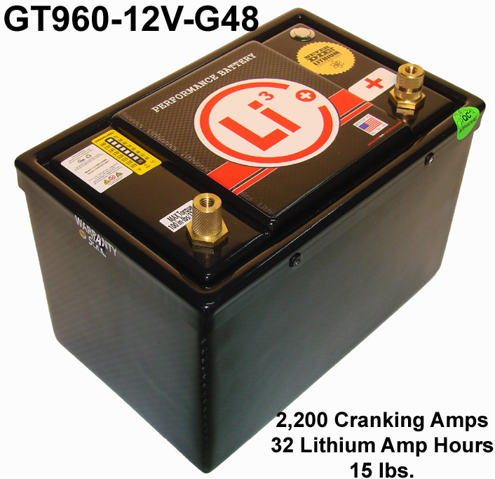 high performance Lithionics Battery lithium-ion battery