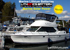 Lithium-ion replacement battery for yachts, sailboats, cabin cruisers, ski boats, bass boats and personal watercraft